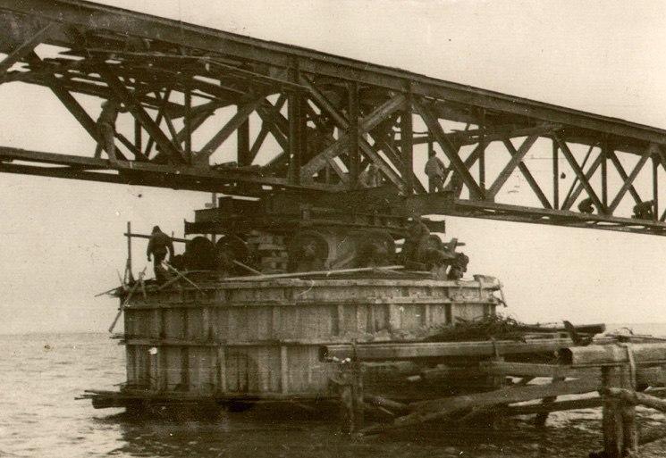 Опора, строившаяся немцами в 1943 году