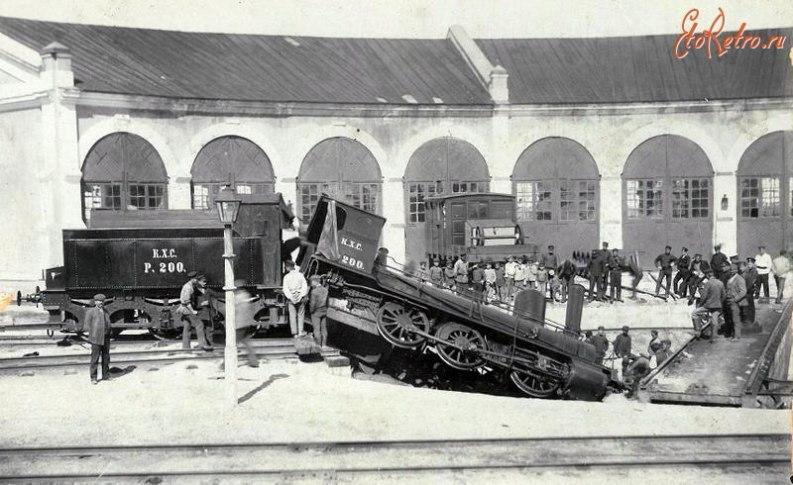 Джанкойское ж\д депо в начале XX века